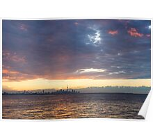 Just Before Sunrise - Toronto Skyline Silhouette Poster