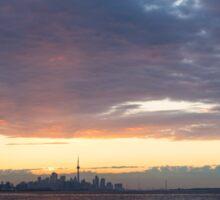 Just Before Sunrise - Toronto's Skyline Silhouette Sticker