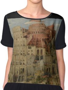 Pieter Bruegel the Elder  - The Tower of Babel  Chiffon Top