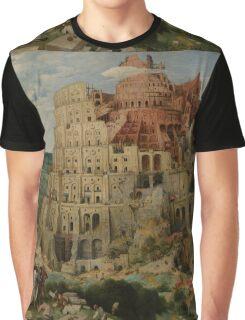 Pieter Bruegel the Elder  - The Tower of Babel  Graphic T-Shirt