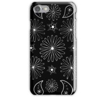 Skull, Daisy and Paisley inspired design iPhone Case/Skin