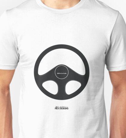 Nissan Silvia S13 Steering Wheel (Black)  Unisex T-Shirt