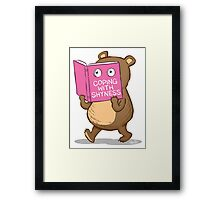 Shy Bear Framed Print