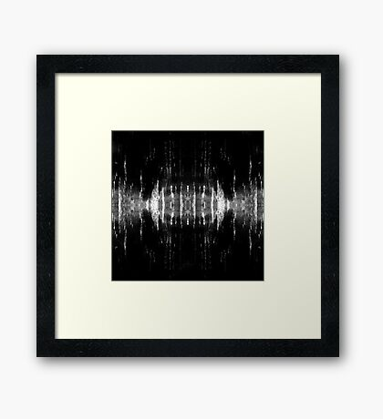 abstract  wave bw2 Framed Print