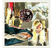 Roisin Murphy Watercolor and Ink Sketch Artwork Photographic Print