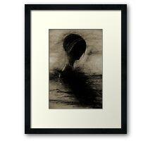 ANGE NOIR DARK ANGEL BOOM Framed Print
