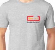 Eagle Jump - Black - Corner Print Unisex T-Shirt