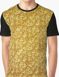 Vintage Floral Lace Leaf Yellow Gold Graphic T-Shirt