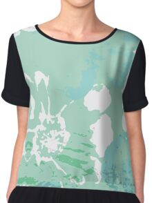 Abstract Painting Flower  Chiffon Top