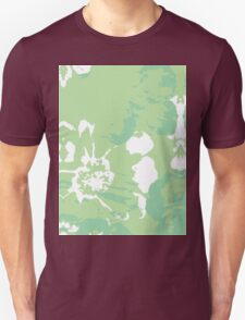 Green Abstract Flower Painting Unisex T-Shirt