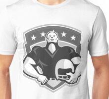 American Football Player Helmet Grayscale Unisex T-Shirt