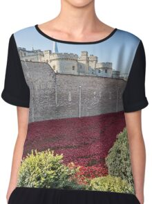Tower Of London Poppies Chiffon Top