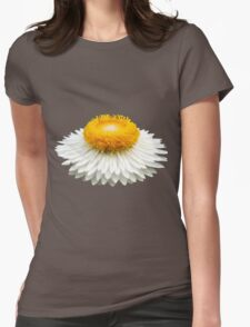 White Daisy Womens Fitted T-Shirt