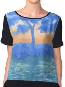 Peaceful Sunrise Chiffon Top