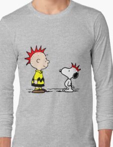 Snoopy and Charlie Brown Punk Long Sleeve T-Shirt