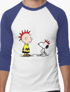 Snoopy and Charlie Brown Punk Men's Baseball ¾ T-Shirt