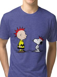 Snoopy and Charlie Brown Punk Tri-blend T-Shirt