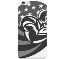 American Football Running With Ball Grayscale iPhone Case/Skin