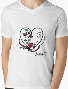 SWEET HEART Mens V-Neck T-Shirt