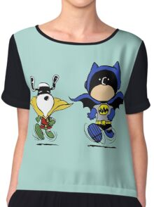 Batman and Robin Peanuts Chiffon Top