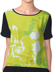 Abstract Flower Painting Chiffon Top