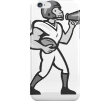 American Football With Bullhorn Grayscale iPhone Case/Skin