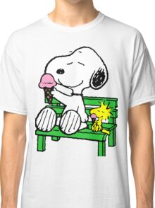 Snoopy and Woodstock Ice Cream Classic T-Shirt