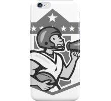 American Football Bullhorn Shield Grayscale iPhone Case/Skin