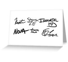 some of the creatures signatures Greeting Card