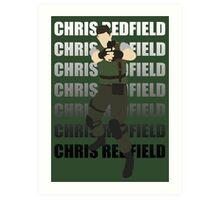 Chris Redfield  Resident Evil Remake version Art Print