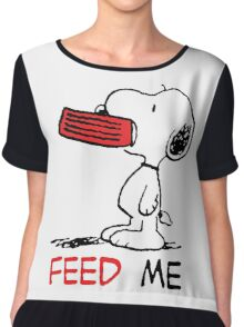 Hungry Snoopy Chiffon Top