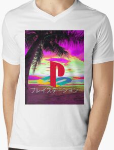 Playstation Mens V-Neck T-Shirt