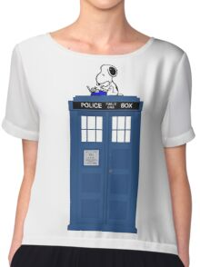 Snoopy Doctor Who Chiffon Top