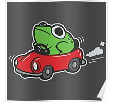 MOTHER 3 FROG IN A CAR - earthbound Poster