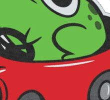 MOTHER 3 FROG IN A CAR - earthbound Sticker