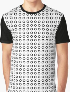 Black circles pattern Graphic T-Shirt