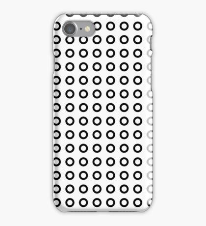 Black circles pattern iPhone Case/Skin