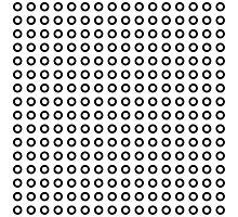 Black circles pattern Photographic Print