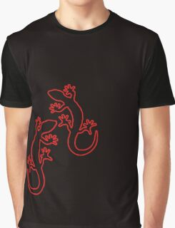 Zwei geckos rot Graphic T-Shirt