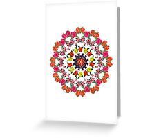 Romantic Vector Floral Pattern Greeting Card