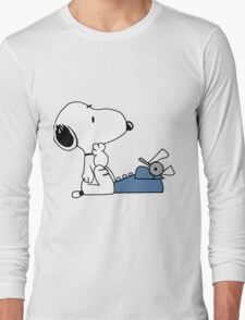 Snoopy Writes Long Sleeve T-Shirt