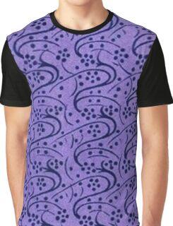 Vintage Floral Periwinkle Purple Graphic T-Shirt