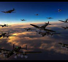 Crowded Skies by tomandersonart