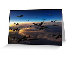 Crowded Skies Greeting Card