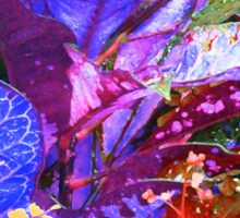 Fantasy Colored Leaf Abstract Sticker