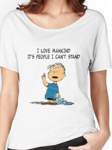 Linus Mankind Quote Women's Relaxed Fit T-Shirt