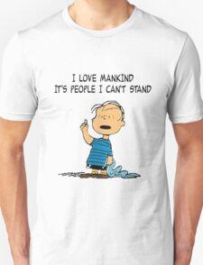 Linus Mankind Quote Unisex T-Shirt