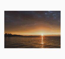 Toronto's Skyline Sunrise - Golden Sunrays CN Tower One Piece - Short Sleeve
