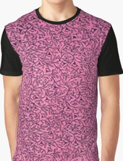 Vintage Floral Leaf Pink Graphic T-Shirt