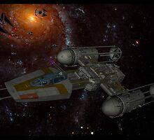 A galactic battle by tomandersonart